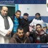 """أعضاء من المجلس في زيارة للفنان المغربي إبن مدينة أيت ملول """"حسن العاتي"""" الذي ألمّت به وعكة صحّية."""