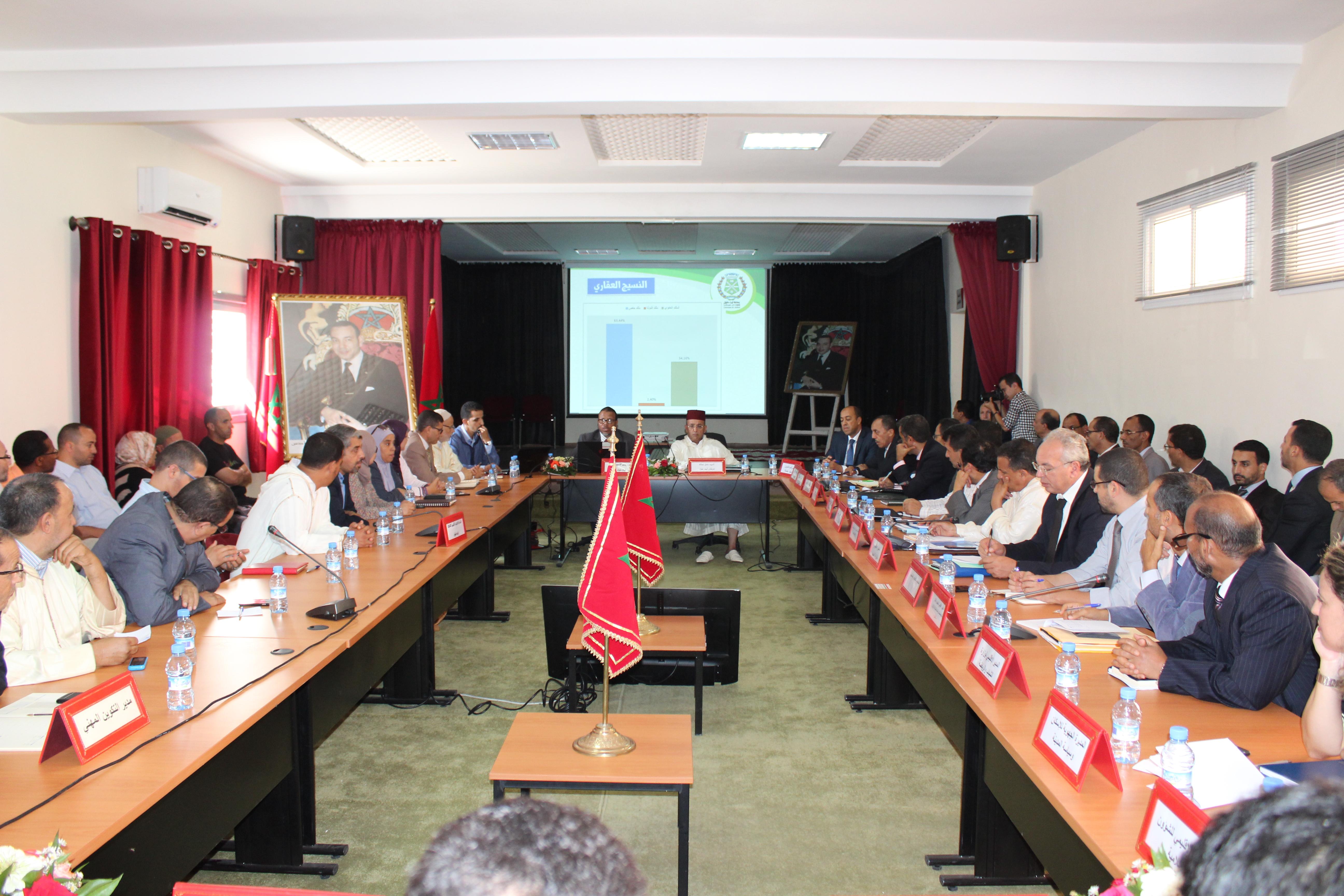 عامل إقليم إنزكَان أيت ملول يعقد لقاءً تواصليا مع أعضاء المجلس الجماعي لأيت ملول بحضور مختلف ممثلي المصالح الخارجية.