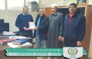 رئيس المجلس يستقبل أعضاء المكتب المسير لفريق النادي الرياضي نصر سيدي ميمون -المزار
