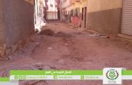 إستمرار أشغال التبليط بأحياء مختلفة من المدينة (حي القباج)
