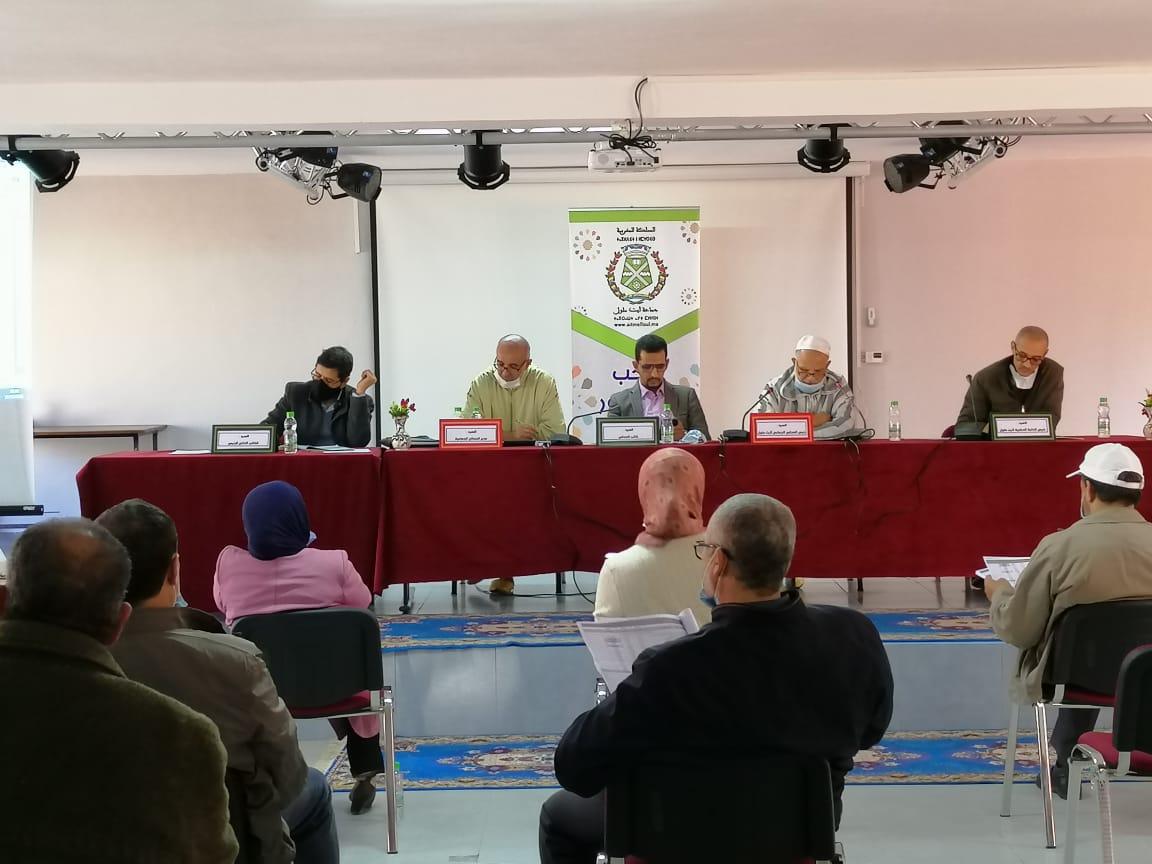 انعقاد الدورة الإستثنائية لمجلس جماعة أيت ملول والمصادقة بالإجماع على تعديل ميزانية 2021