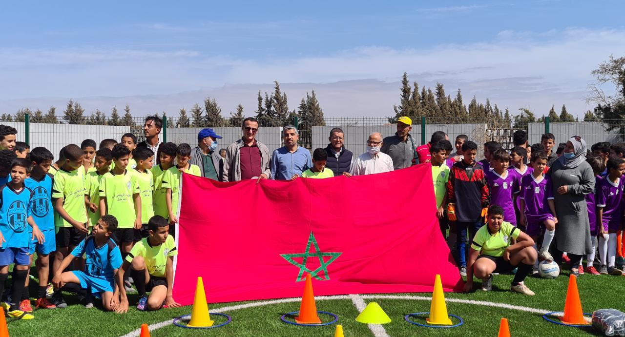 جماعة أيت ملول-إفتتاح الفضاء الرياضي والترفيهي بحي أزرو