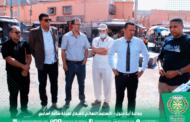 جماعة أيت ملول – الدكتور هشام القيسوني رئيس الجماعة يشرف على التسلم النهائي لمشروع ساحة أسايس.