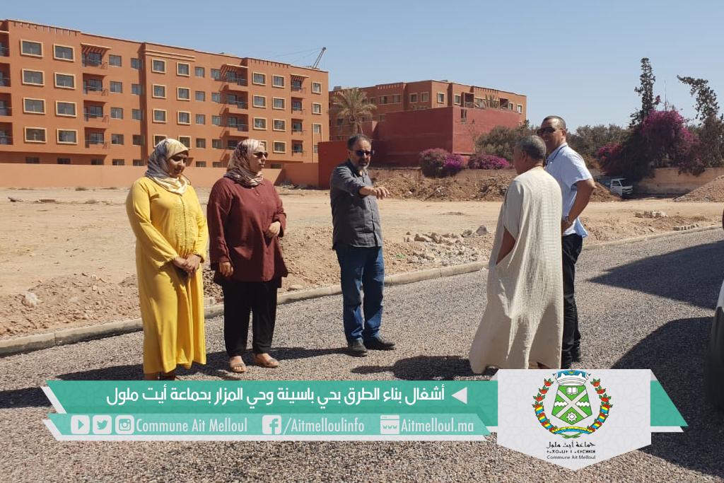 إستمرار أشغال بناء الطرق بحي باسينة وحي المزار