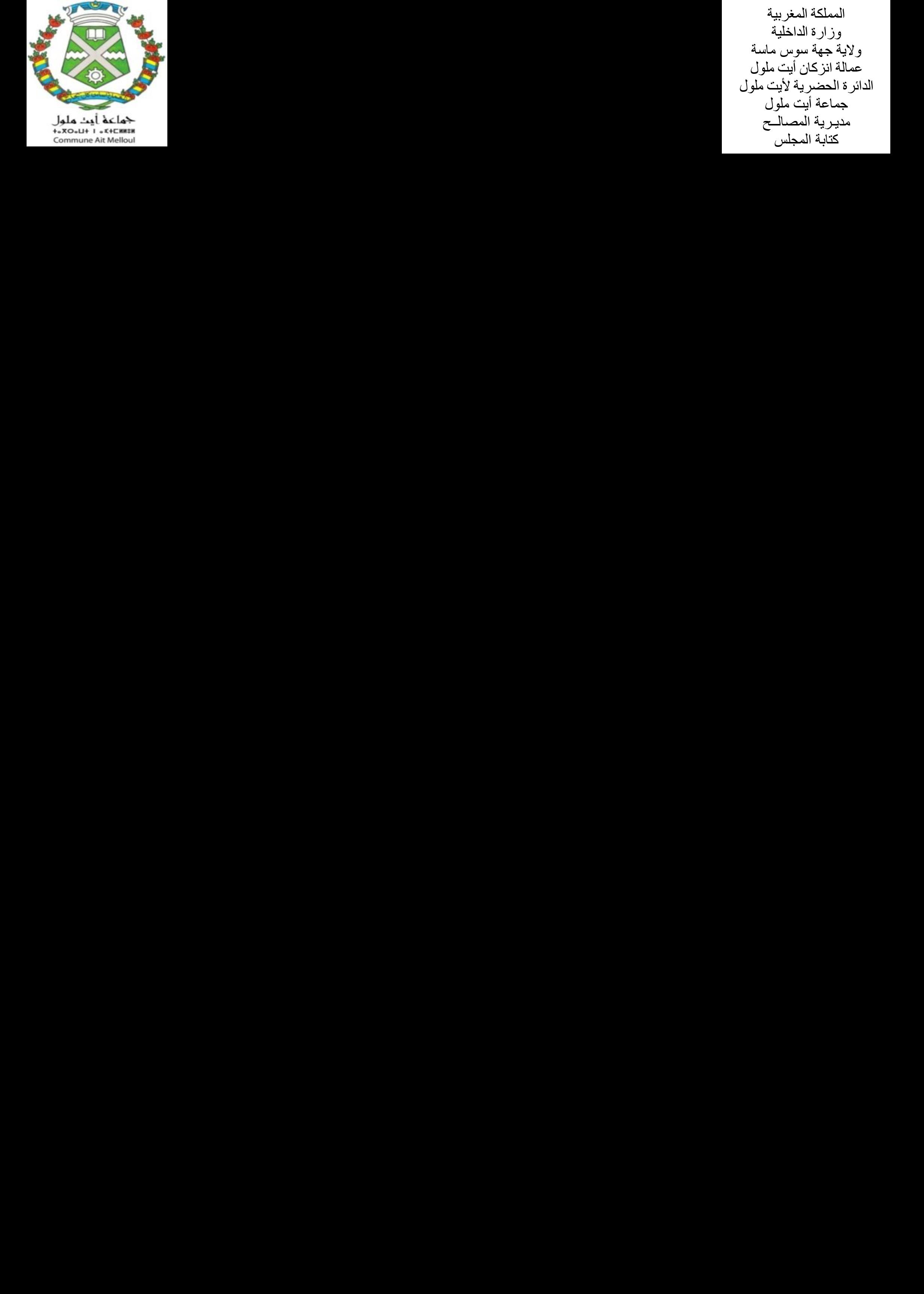 ملخص مقررات الدورة العادية للمجلس الجماعي لأيت ملول لشهر فبراير 2021