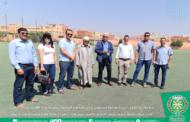 جماعة أيت ملول - رئيس الجماعة ومسؤول إداري بالجامعة الملكية لكرة القدم في زيارة لبعض المرافق الرياضية بالجماعة